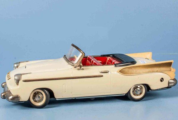 Schuco Tin-Cars Schuco Synchromatic Packard with rear fin, cabriolet in crem