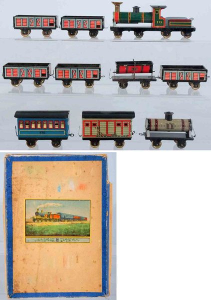Hess Railway-Trains Tin lithographed nickel-size train set, consists of a combin