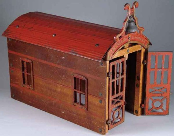 Carpenter Wood-Buildings Engine house of wood, cast iron, and tin engine house is ref