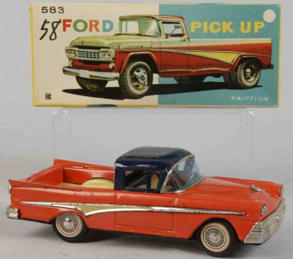 Bandai Tin-Cars Ford Pick up truck #583 made of lithographed tin, with frict