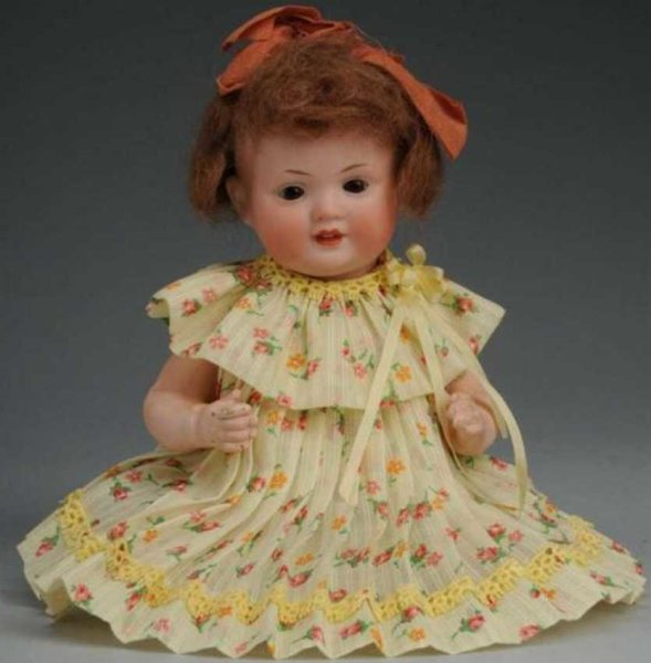 Bahr & Proeschild Dolls Bisque head character baby doll with sleeping eyes, fly away