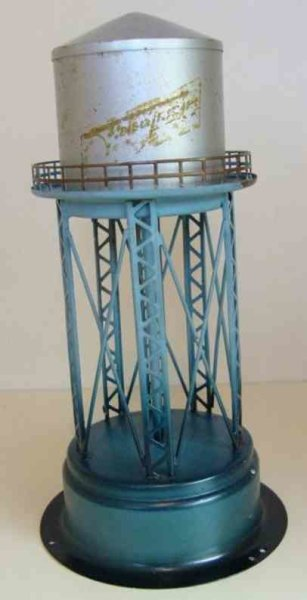Fleischmann Tin-Toys Water tower, round water tower on grating frame, rail, ladde