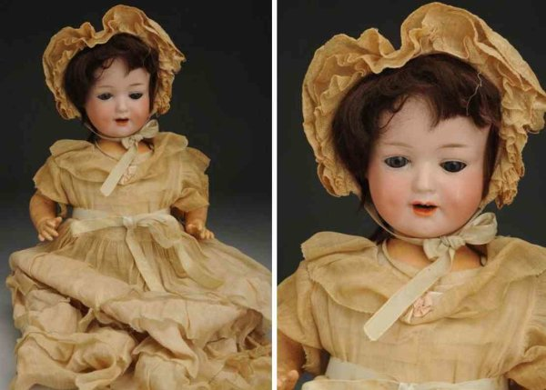Marseille Armand Dolls Bisque socket head character baby doll, head incised ?590 A
