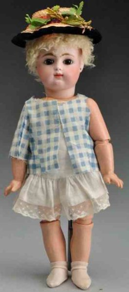 Gaultier Dolls Bisque socket head baby doll, head incised ?F 6 G?, the earl