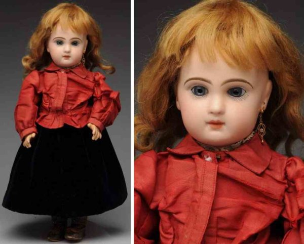 Jumeau Dolls Bisque socket head bébé baby doll with red Jumeau stamp ?Dep