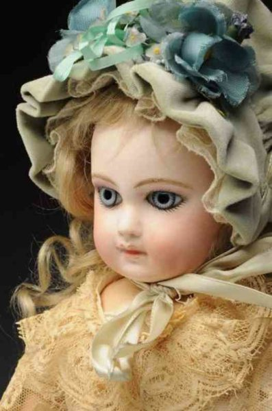Jumeau Dolls Bisque socket head baby doll, head incised ?6? by Emile Jume