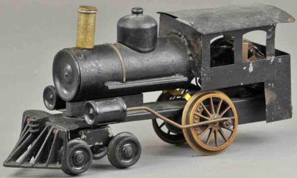 Howard Electric Novelty Company Railway-Locomotives 4-2-0 locomotive No. 6, repainted in black, has
