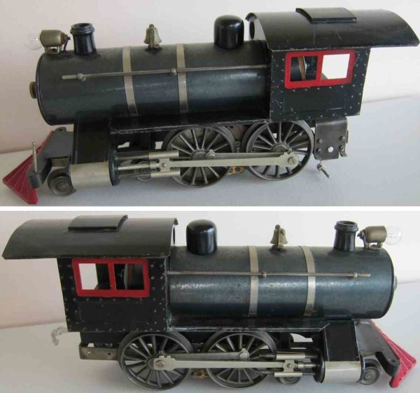 Lionel Railway-Locomotives Steam locomotive #6.2 4-4-0 with thin rimmed drivers an spli