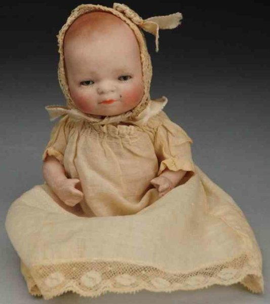 Grace Storey Putnam Dolls All-bisque ?Bye-Lo Baby? doll, incised ?6-12 Copr. By Grace