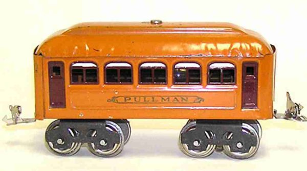 Lionel Railway-Passenger Cars Pullman car #603.4 with eight wheels, made of tin, lithograp