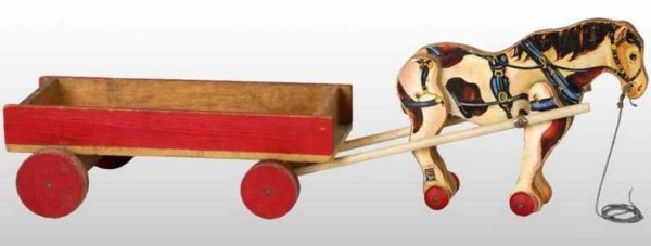 Fisher-Price Wood-Carriages Horse with wagon