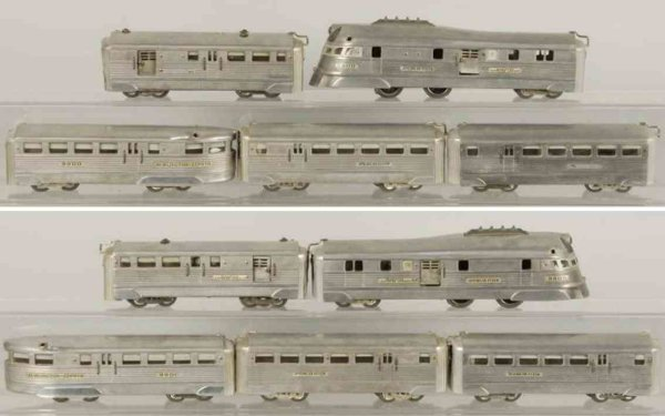 American Flyer Railway-Trains Streamline train set includes no. 9900 power car and four pa