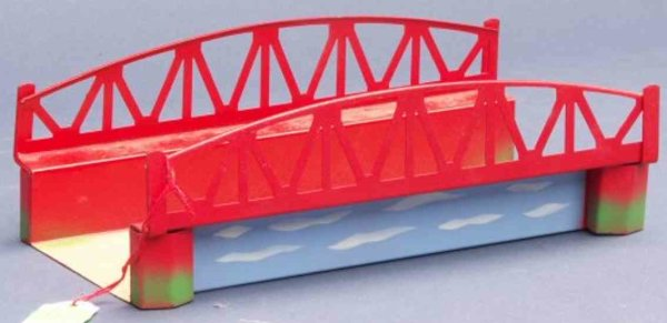 Kibri Railway-Bridges Arch bridge #61/4 without rail edition in red-gray blue