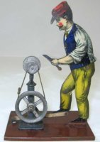 Carette Steam Toys-Drive Models Polischer, Man at the...