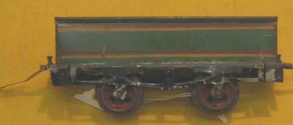 Ives Railway-Freight Wagons Gondola hand painied in green or red with double striping at