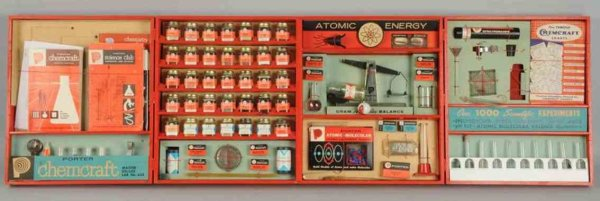 The Porter chemical company Component Systems Chemcraft atomic energy lab set, looks to be complete