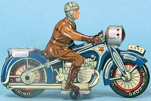Arnold Military-Motorcycles Spark motorcycle #A643 with clockwork (feather elevator), co