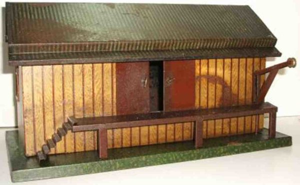 Plank Ernst Railway-Freight Station/Accessories Goods shed light brown with smooth walls and smooth