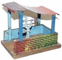 Doll Steam Toys-Drive Models Trip hammer shed with drill...