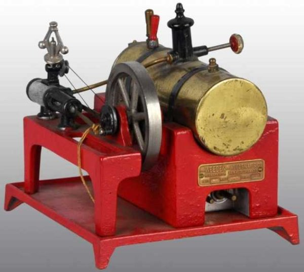 Weeden Steam Toys-Horizontal Steam Engines Electric horizontal engine on heavy cast iron base