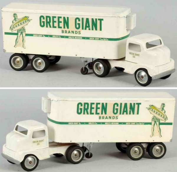 Tonka Toys Tin-Trucks Pressed steel Green Giant truck #650-4 in white and green, t