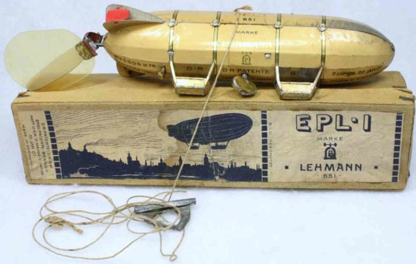 Lehmann Tine Ariplanes Airship zeppelin EPL1 4 movable propellers, attached on the