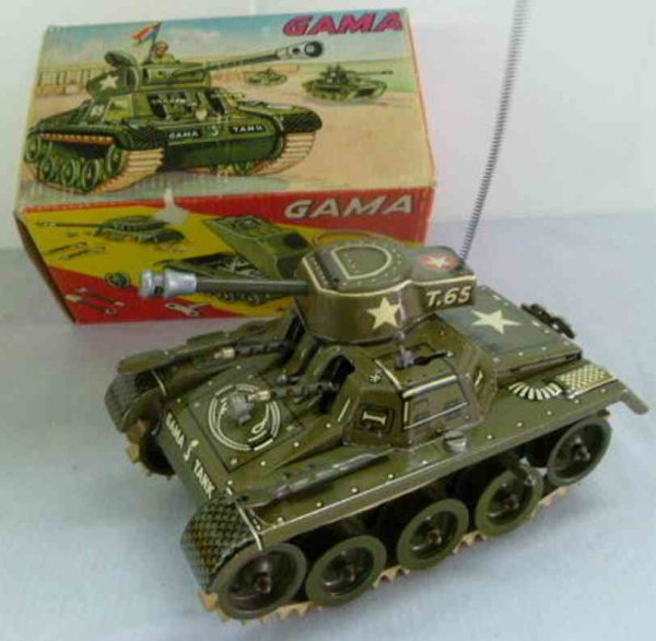GAMA Military-Vehicles Mounting tin tank with clockwork, the machine gun can be adj