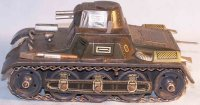 Gescha Military-Vehicles Tin tank with clockwork,...