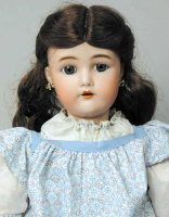 Simon & Halbig Dolls Bisque socket head doll, faintly...