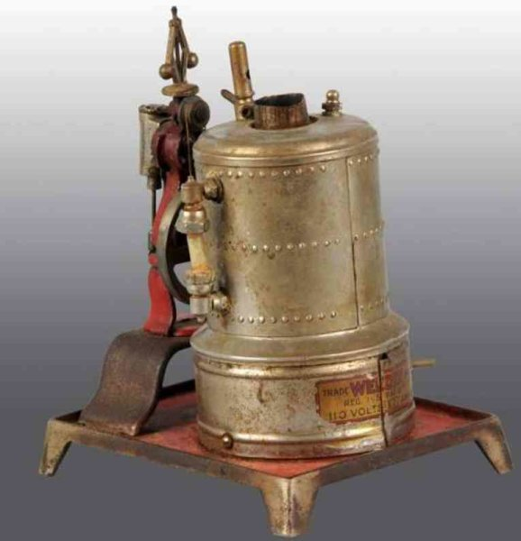 Weeden Steam-Toys-Vertical-Steam-Engines Upright electric steam engine, this is the electric version