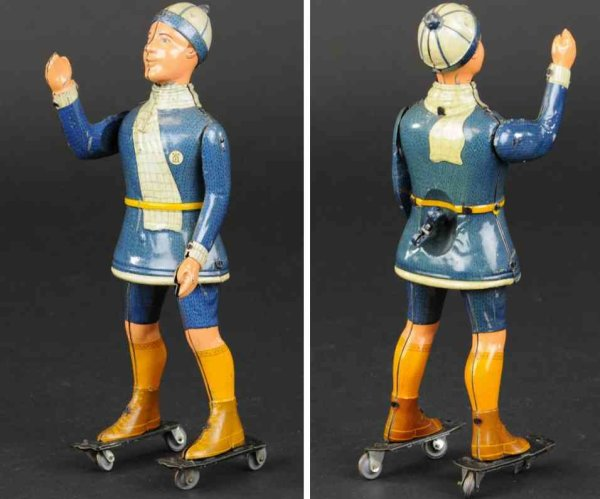 Lehmann Tin-Figures Primus #670 roller skater made of lithographed tin, full fig
