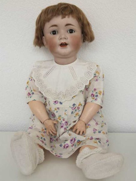 Kley & Hahn Dolls Jointed doll with bisque head, sleep eyes and laterally mova
