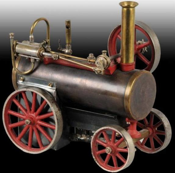 Carette Steam Engines-Mobile Lokomobile Steam traction engine with fixed double action patent slide
