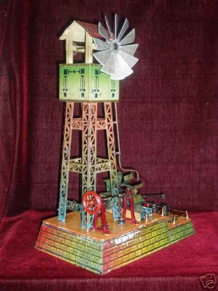Doll Steam Toys-Drive Models Water tower No. 695/1 with windmill, credits, mill-wheel wit