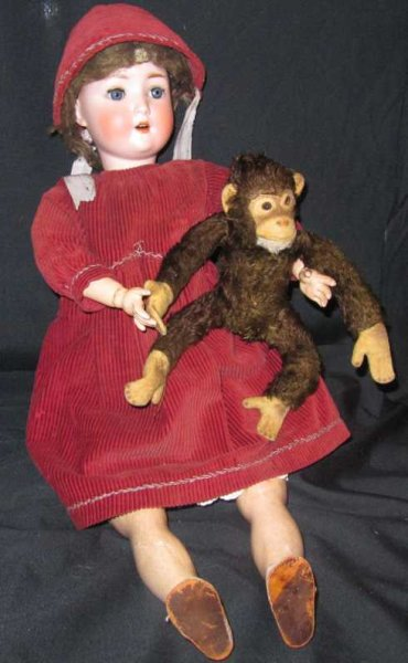 Steiner August Dolls Doll marked A. 7 S. Grmany, open mouth, 4 teeth, long legs,