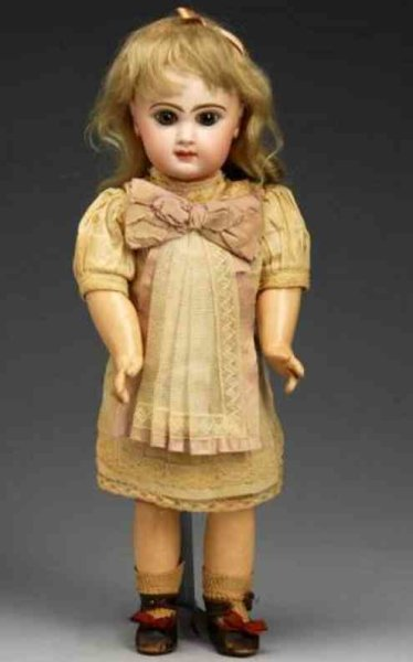 Jumeau Dolls Bebe doll with bisque socket head stamped in red Depose Tete
