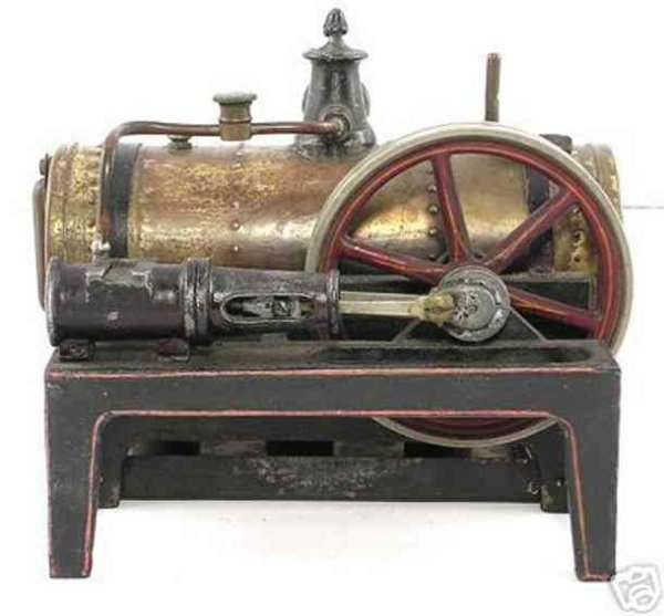Bing Steam Toys-Horizontal Steam Engines Lying steam engine