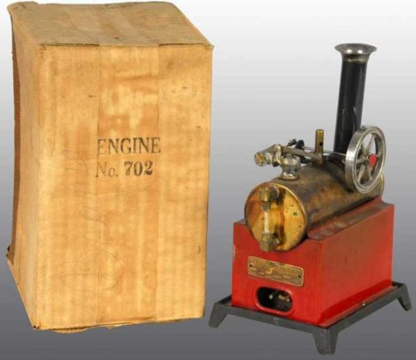 Weeden Steam Engines-stationary-Lokomobile Overtype electric steam engine includes  a waterglass, a