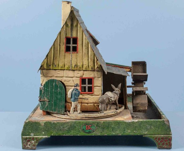 Doll Steam Toys-Drive Models Hand-coated mill house #702 with pumping station and waterwh
