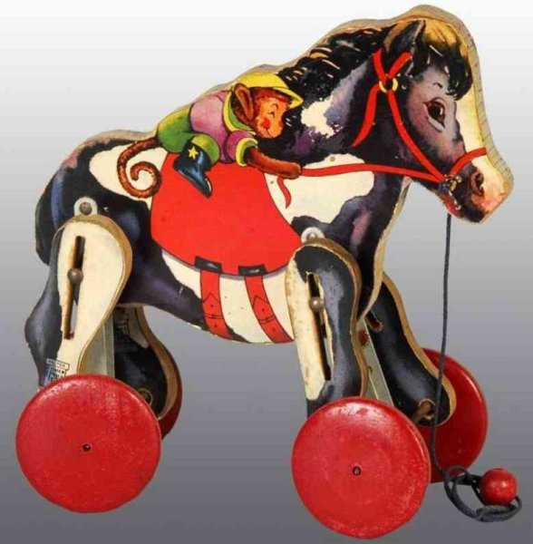 Fisher-Price Wood-Figures Racing pony with pull string