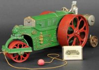 Hubley Cast-Iron Tugs-Rollers Huber road roller #711, the...