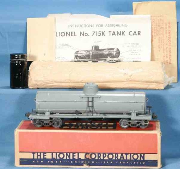 Lionel Railway-Freight Wagons Tank car kit, unassembled