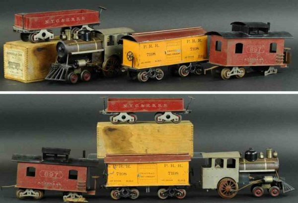 Howard Electric Novelty Company Railway-Trains Freight set includes locomotive 4-2-0 electric locomo