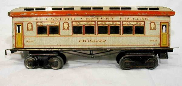Ives Railway-Passenger Cars Buffet coach lettering TWENTIETH CENTURY LIMITED on the le