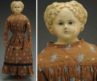 Greiner Ludwig Dolls Papier-mâché shoulder head doll with...