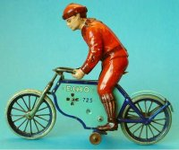 Lehmann Tin-Motorcycles ECHO #725 motorcyclist with depth...