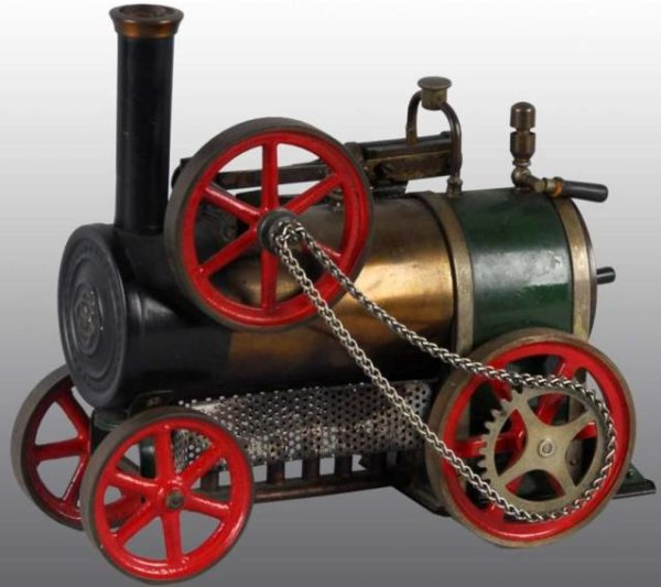 Bing Steam Engines-Mobile Lokomobile Tractor engine toy. Includes a stationary double working cyl