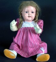 Kaemmer & Reinhardt Dolls Doll with celluloid head and...