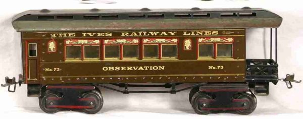 Ives Railway-Passenger Cars Passenger car, OBSERVATION THE IVES REAILWAY LINES in br