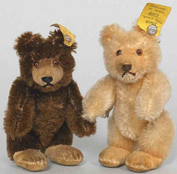 Steiff Baers The smallest Teddy Baby 7309 with dark brown mohair from c.1